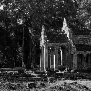 Ruins of temple, Krong Siem Reap, Siem Reap, Cambodia