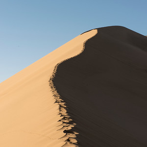 Sand dune at Mingsha Shan, Dunhuang, Jiuquan, Gansu Province, China