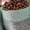 Sack of dried fruits in market, Dong Dajie, Dunhuang, Jiuquan, Gansu Province, China