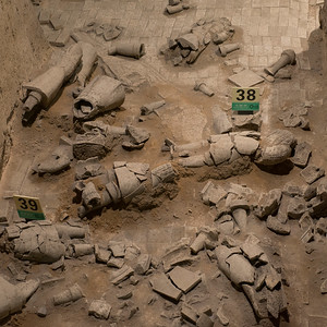 Old Chinese ruins of terracotta army in Xi'an, China.