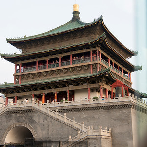 Bell Tower, Xi'an, Shaanxi, China.