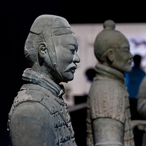 Terracotta warrior statue at the Shaanxi History Museum, Xi'an, China