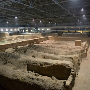 Excavation site at Terracotta Warriors Army Museum, Xi'an, China
