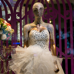 Mannequin with a beautiful dress and jewelry, Xi'an, China.
