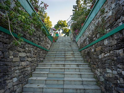 Low angle view of staircase, Darjeeling, West Bengal, India