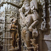 Carving details in Jain temple at Jaisalmer Fort, Jaisalmer, Rajasthan, India