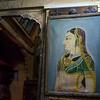 Close-up of traditional Rajasthani painting, Jaisalmer, Rajasthan, India