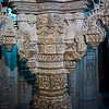 Carving details of column at Chandraprabhu Jain Temple, Jaisalmer Fort, Jaisalmer, Rajasthan, India