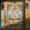 Lord Ganesha, Hindu god painted on wall, Jaisalmer Fort, Jaisalmer, Rajasthan, India