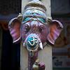 Carving of Lord Ganesha a Hindu god mounted on a column, Jaisalmer Fort, Jaisalmer, Rajasthan, India,