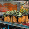 Pineapples for sale on cart, Jaipur, Rajasthan, India