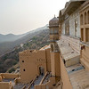 Elevated view of Amber Fort, Jaipur, Rajasthan, India