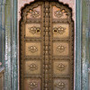Details of door at Peacock Gate, City Palace, Jaipur, Rajasthan, India