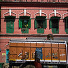 Truck in front of building, Kolkata, West Bengal, India