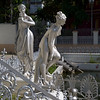 Statues of women in the garden of Calcutta Jain Temple, Kolkata, West Bengal, India
