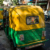 Auto rickshaws on a street, Abhedananda Road, Kolkata, West Bengal, India