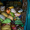 Heap of bags in store, Kolkata, West Bengal, India