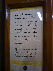 Close-up of a Quote by Mahatma Gandhi, Mani Bhavan - Mahatma Gandhi's Residence in Mumbai 1917-1934, Gandhi's Museum & Library, Mumbai, Maharashtra, India
