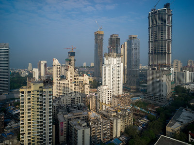 Skyscrapers in city, Mumbai, Maharashtra, India