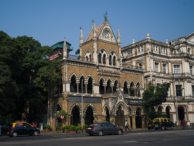 Faade of historic library building, David Sassoon Library and Reading Room, Mumbai, Maharashtra, India