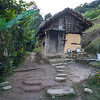 Traditionally built hut in village, Rinchenpong, Sikkim, India