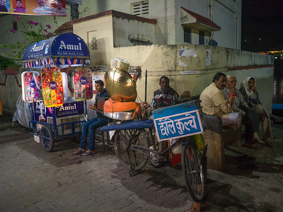 Food stalls on street, Rishikesh, Dehradun District, Uttarakhand, India