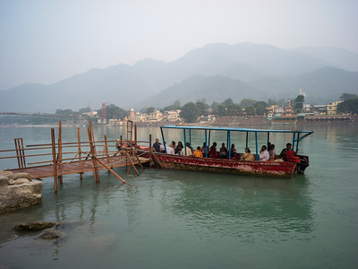 Tourists boating in River Ganges, Rishikesh, Dehradun District, Uttarakhand, India