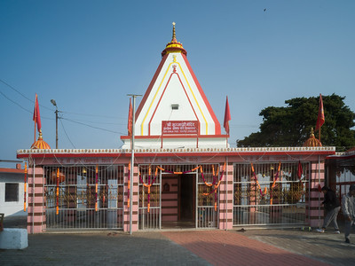 Faade of a temple, Kunjapuri Devi Temple, Adali, Narendranagar, Tehri Garhwal, Uttarakhand, India