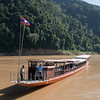 Tourists on tourboat in River Mekong, Luang Prabang, Laos