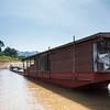 Houseboat in River Mekong, Laos