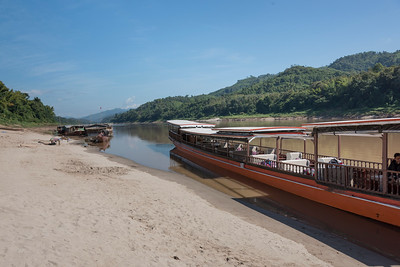 Tourboat in River Mekong, Sainyabuli Province, Laos