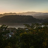 Elevated view of River Mekong, Mount Phousi, Luang Prabang, Laos