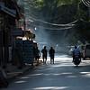 People walking on street, Luang Prabang, Laos