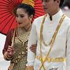 Traditional bride and groom, Wat Xieng Thong, Luang Prabang, Laos