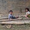 Portrait of two children playing, Luang Prabang, Laos