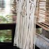 Close-up of threads hanging in a loom, Luang Prabang, Laos