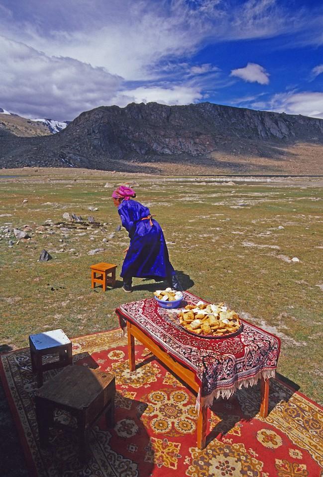 Woman at local Naadam. Festival. Western mongolia