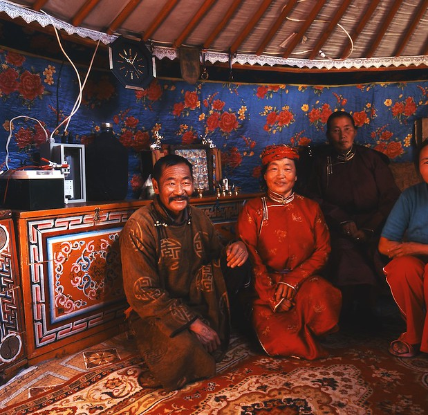 Ger interior western Mongolia Traditional living