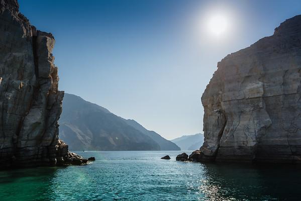 Fjords near Khasab, Oman