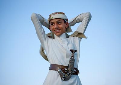 Saudi Arabia, Jazan Province, Jizan, Saudi Man With A Dagger