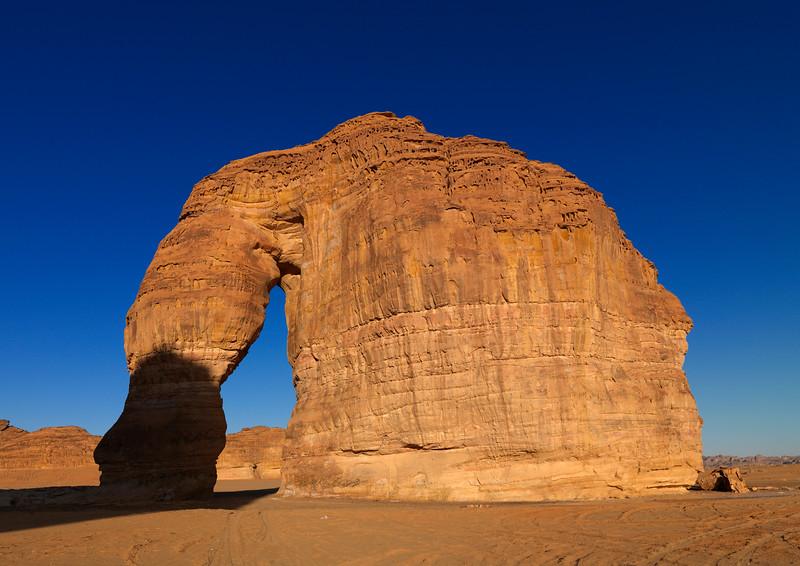Saudi Arabia, Al Madinah Region, Al Ula, Elephant Rock In Madain Saleh Archaeologic Site