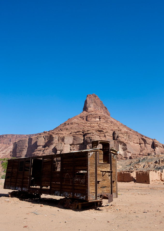 Saudi Arabia, Al Madinah Region, Al Ula, Old Wagon From Hijaz Railway