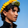 Saudi Arabia, Asir, Al Farsha, Flower Man With A Crown On The Head