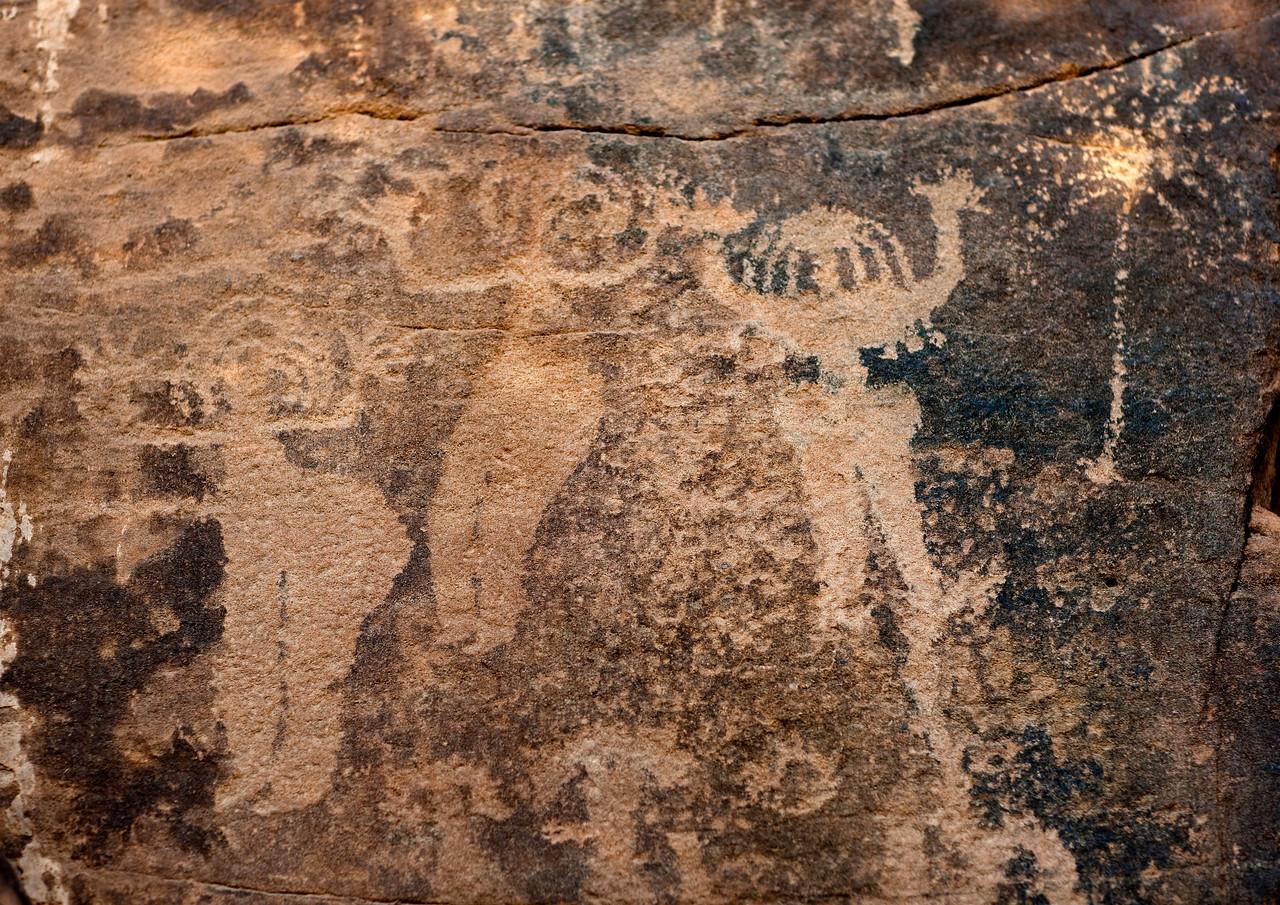 Saudi Arabia, Najran Province, Abar Hima, Women Dancing On Rock Art