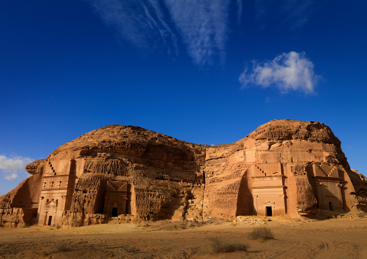 Saudi Arabia, Al Madinah Region, Al Ula, Nabatean Tomb In Madain Saleh Archaeologic Site
