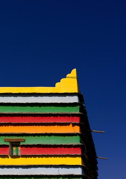 Saudi Arabia, Asir, Khamis Mushayt, Colorful Bin Hamsan House
