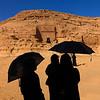 Saudi Arabia, Al Madinah Region, Al Ula, Tourists In Front Of A Nabatean Tomb In Madain Saleh Archaeologic Site