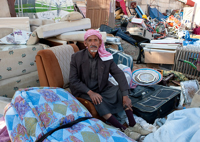 Saudi Arabia,, Najran, Old Man Selling Stuff In A Fea Market