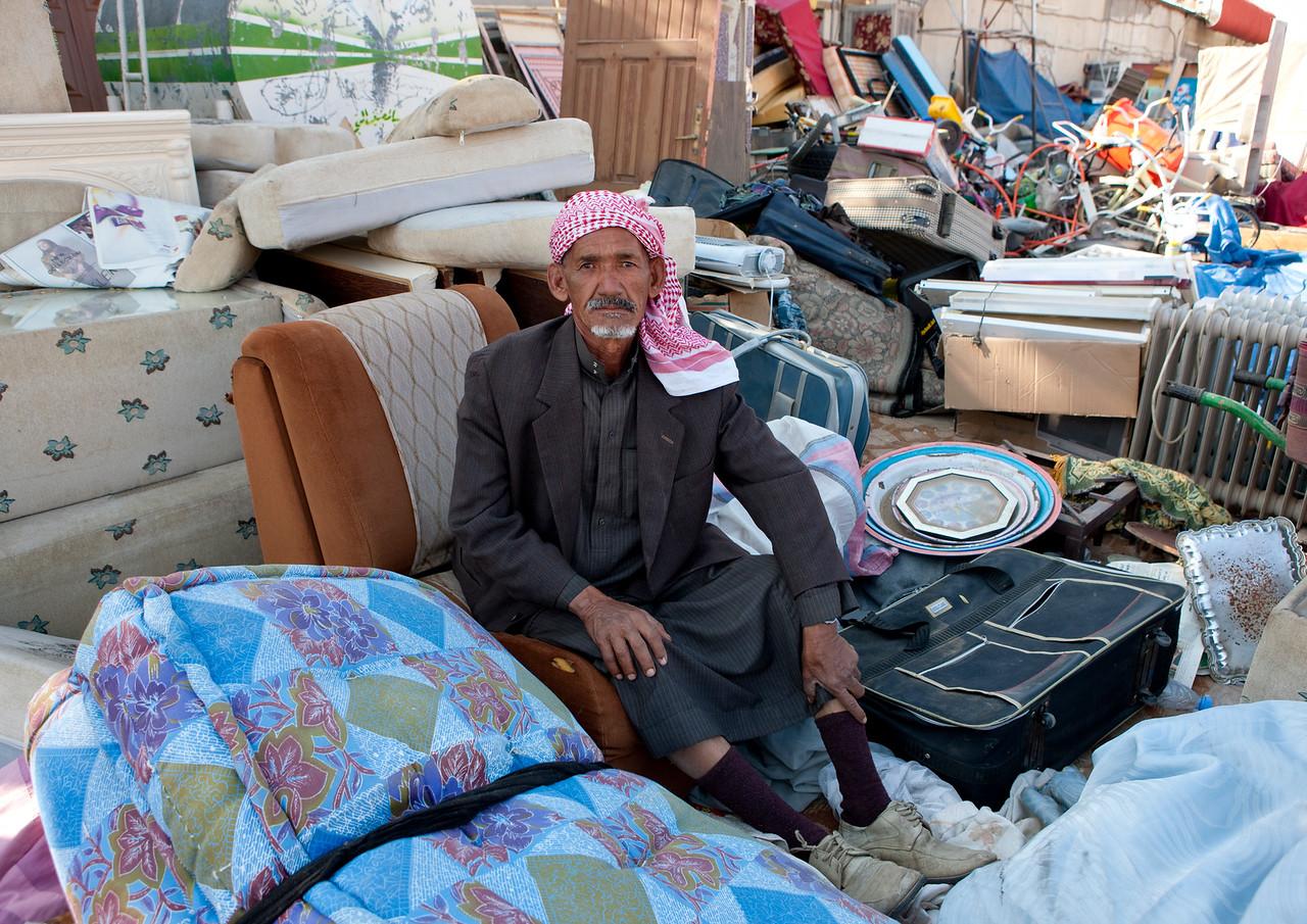 Saudi Arabia,, Najran, Old Man Selling Stuff In A Fea Market
