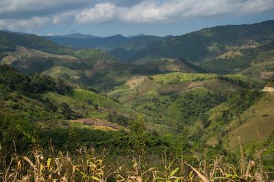 Scenics view of mountains, Chiang Rai, Thailand